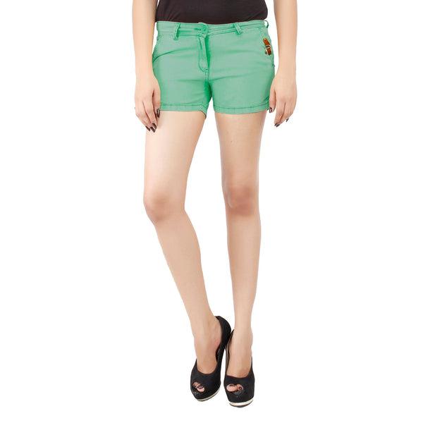 Pale Green Frida Shorts