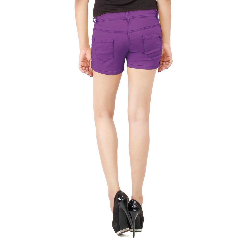Smart Purple Frida Shorts - Über Urban Shorts