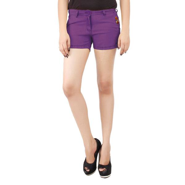 Smart Purple Frida Shorts