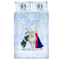 Disney Frozen Yak Queen Size Bedsheet With 2 Pillow Covers