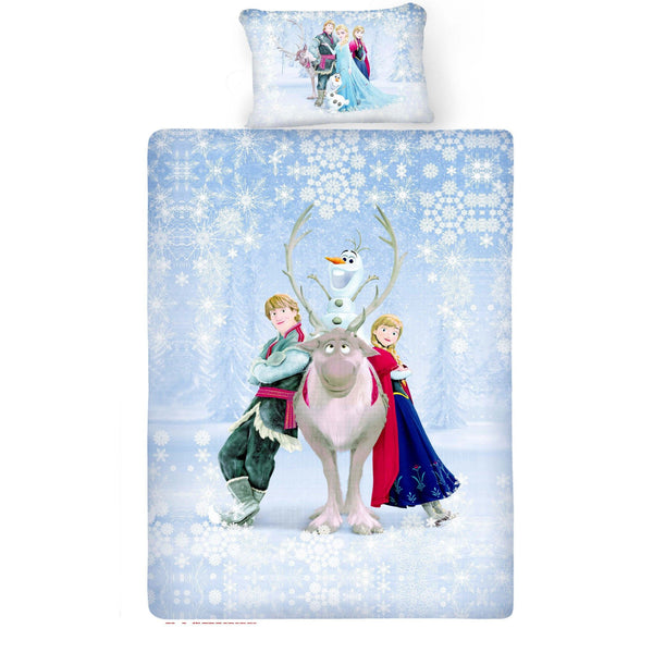 Disney Frozen Yak Cotton Single Bedsheet With 1 Pillow Cover - uber-urban