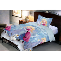 Disney Winter Hug Microfiber Single  Bedsheet With 1 Pillow Cover - Über Urban Bedsheet