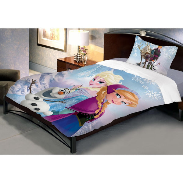 Disney Frozen Sisters Bed Sheet With Pillow Cover (Single) - uber-urban