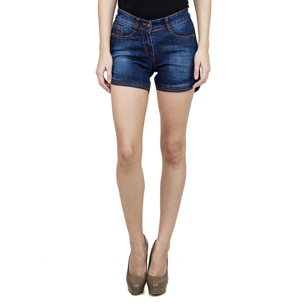 Midnight Blue Fuzzy Shorts - uber-urban