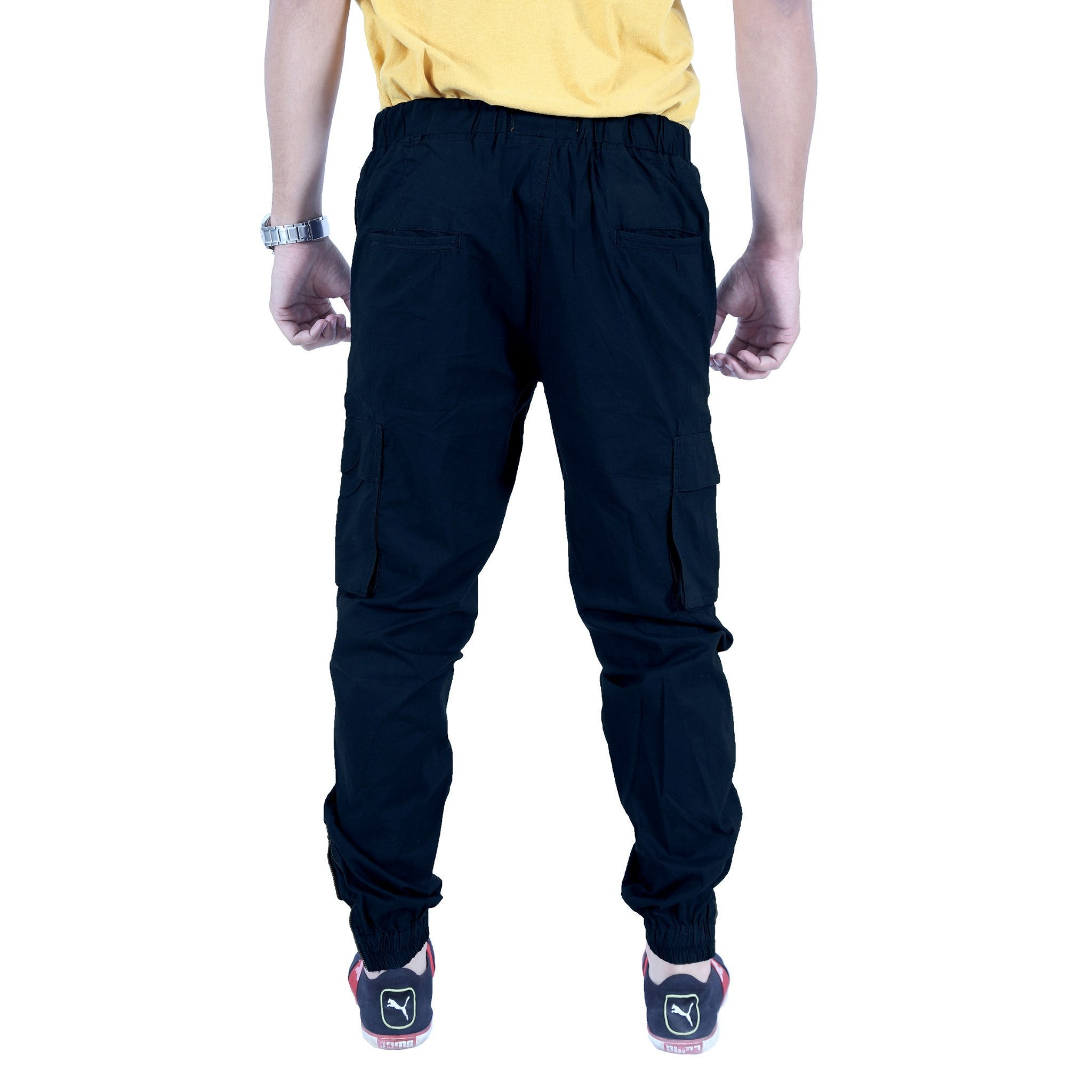 Uber Blacklue Cotton Trouser back view