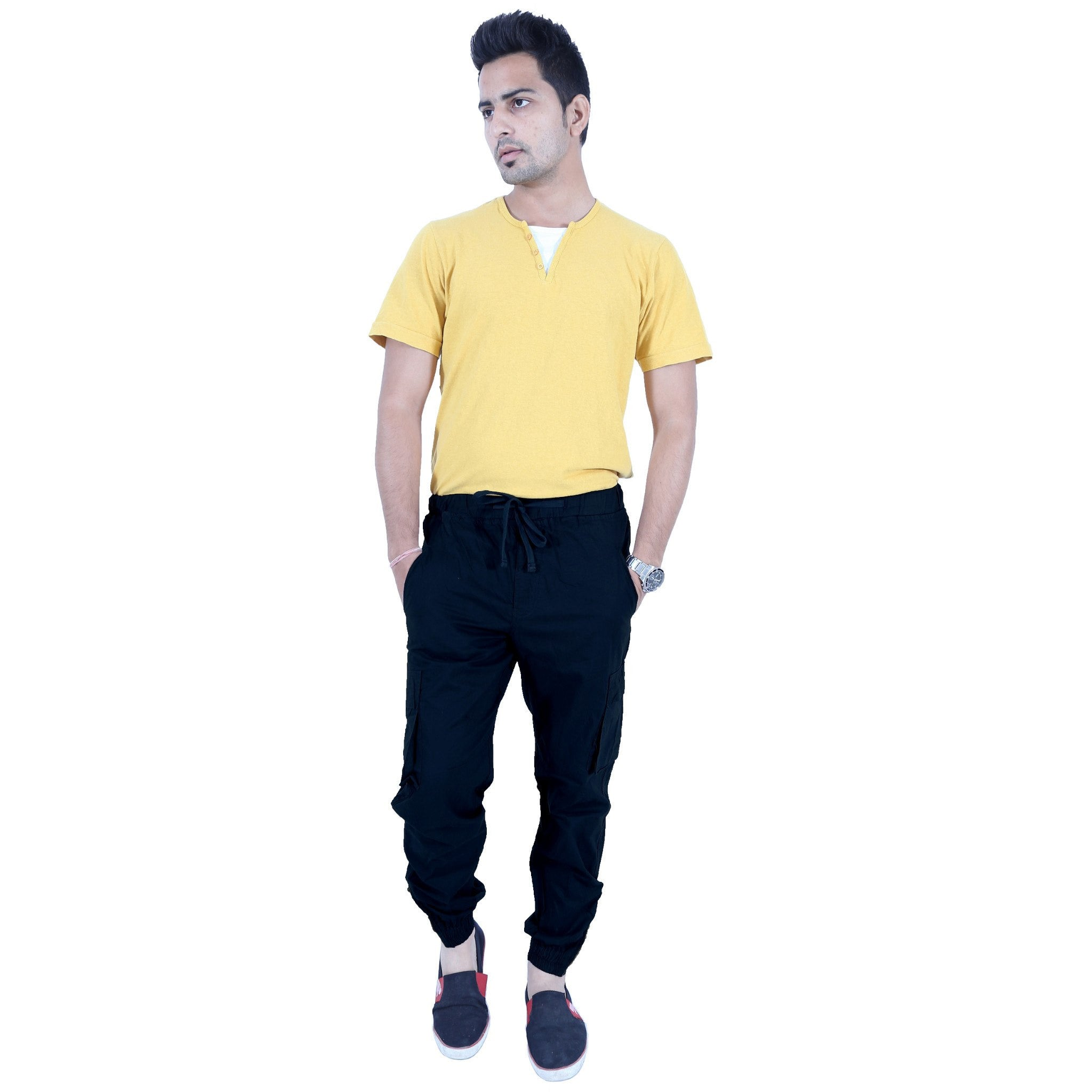 Uber Blacklue Cotton Trouser full view
