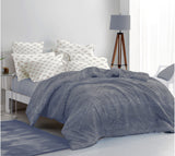 400 Thread Count Printed Grey Bedsheet with 4 Pillow Covers