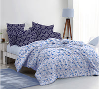 400 Thread Count Printed Sky Bedsheet with 4 Pillow Covers