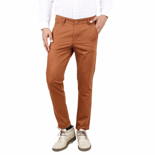 Uber Chocolate Brown Rocky trouser front view