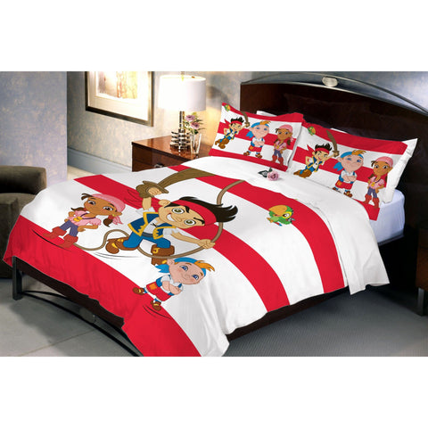 Disney Jake Pirate Double Bedsheet With 2 Pillow Covers - Über Urban Bedsheet