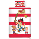 Disney Jake Pirate Cartoon Single Bedsheet With 1 Pillow Cover - uber-urban