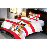 Disney Jake Pirate Cartoon Single Bedsheet With 1 Pillow Cover