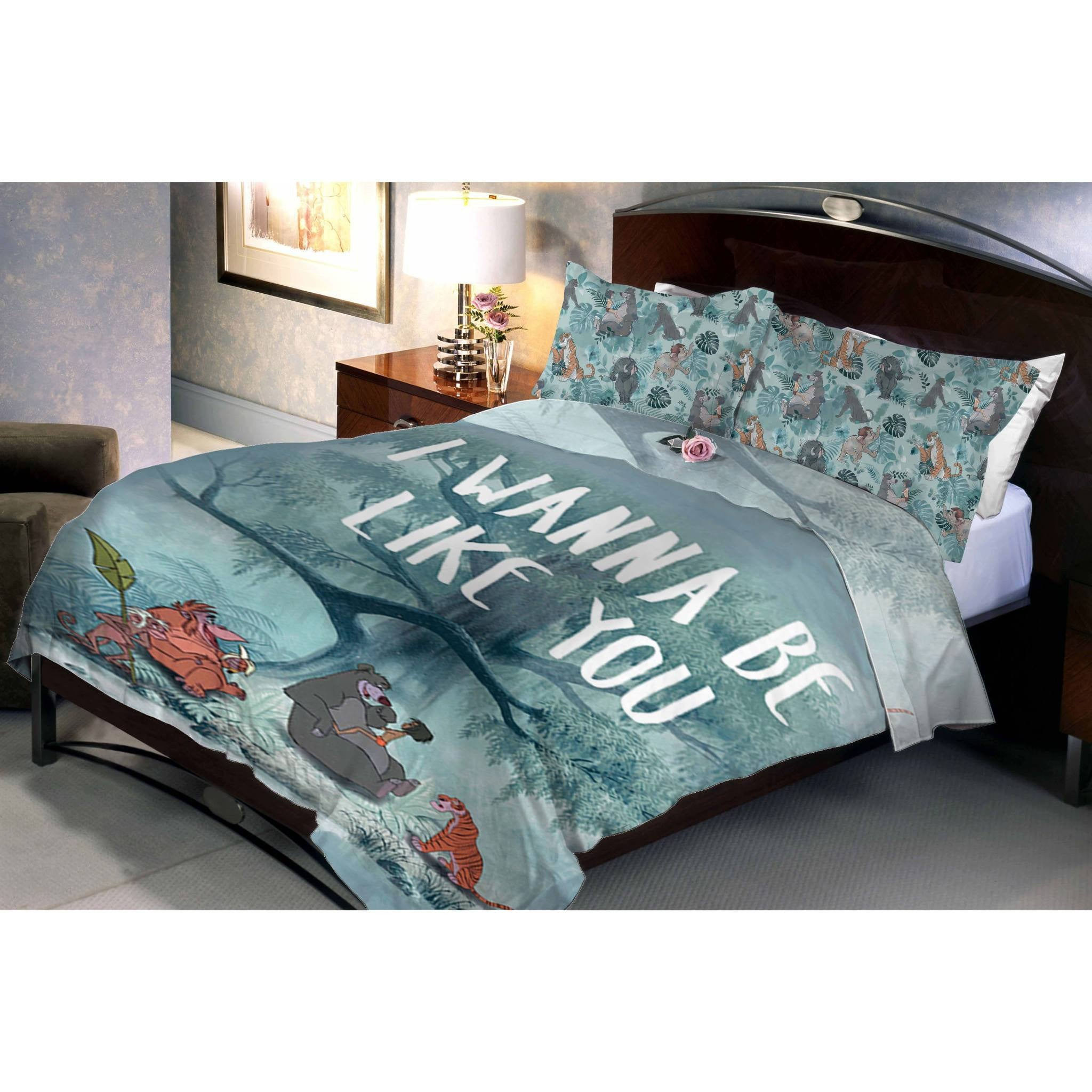 Disney Jungle Book Double Bedsheet With 2 Pillow Covers - Über Urban Bedsheet