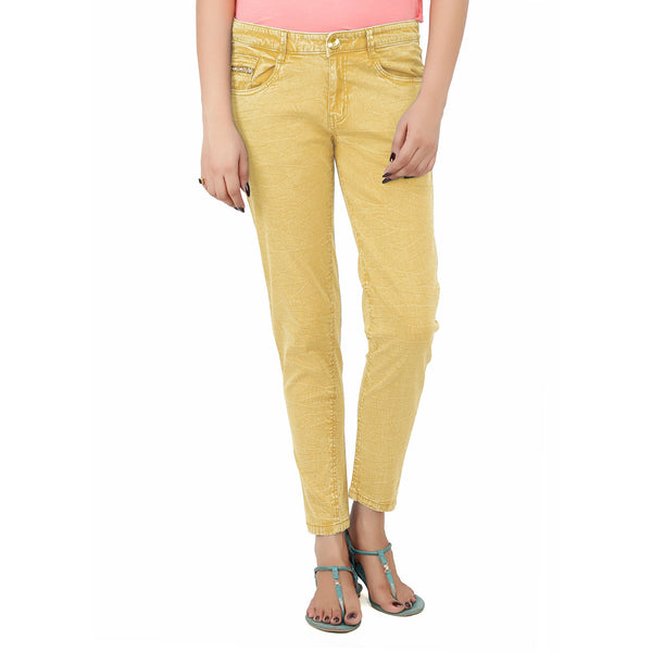 Light Goldenrod Krack Pant
