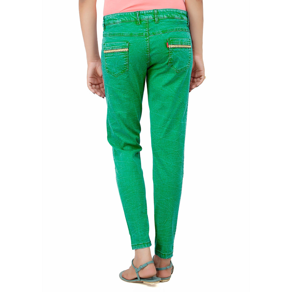 Sea Green Krack Pant - Über Urban Pants