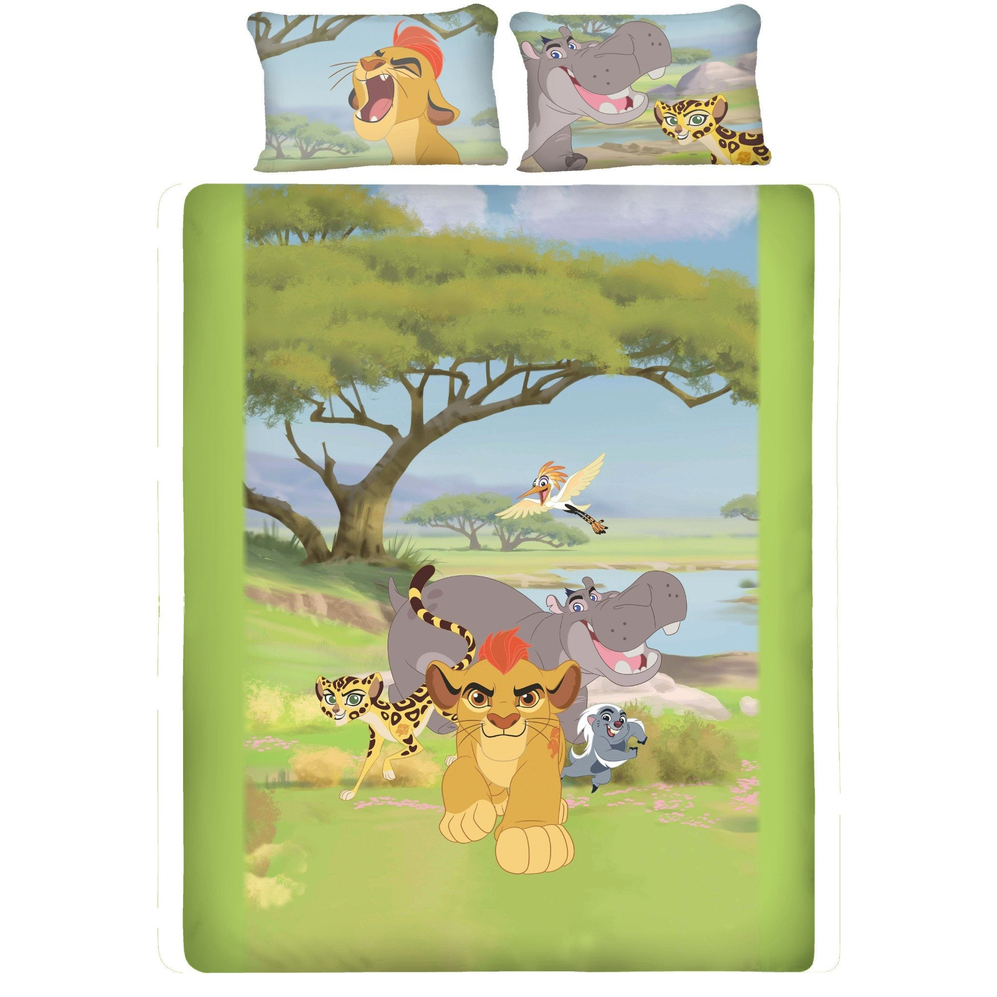 Disney Lion Guard Double Bedsheet With 2 Pillow Covers - Über Urban Bedsheet