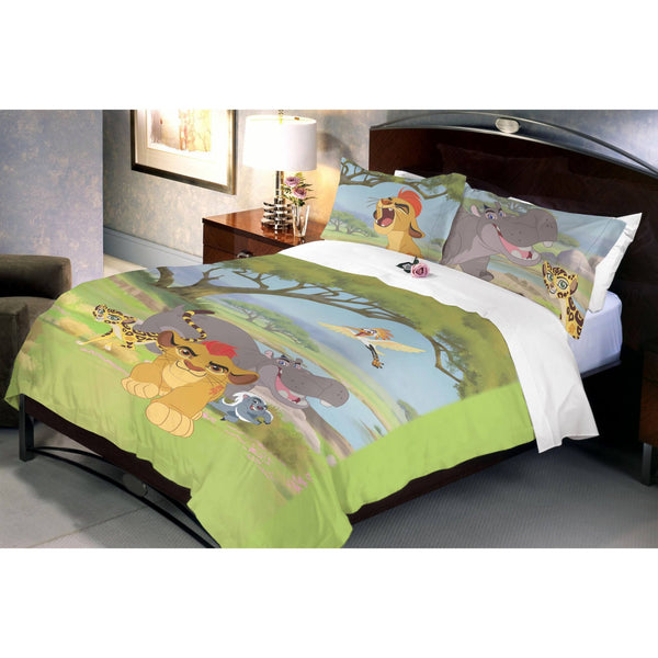Disney Lion Guard Double Bedsheet With 2 Pillow Covers - uber-urban