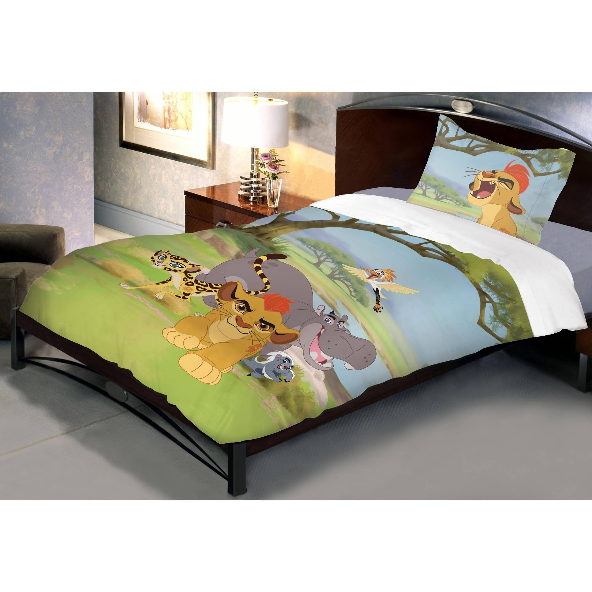 Disney Lion Guard Cotton Single Bedsheet With 1 Pillow Cover - Über Urban Bedsheet