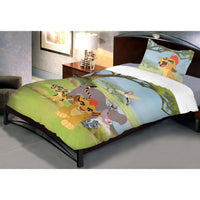 Disney Lion Guard Cotton Single Bedsheet With 1 Pillow Cover