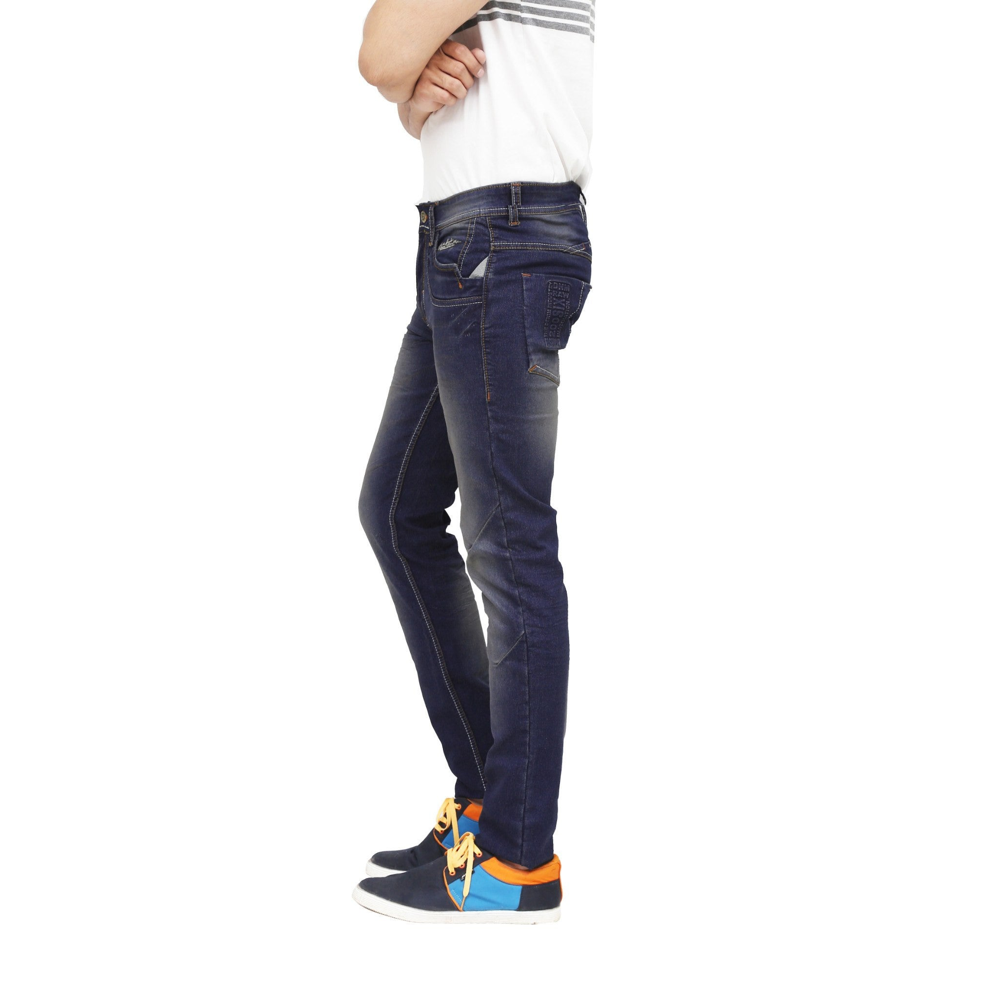 Sooty Black Stretchable Jeans left side view
