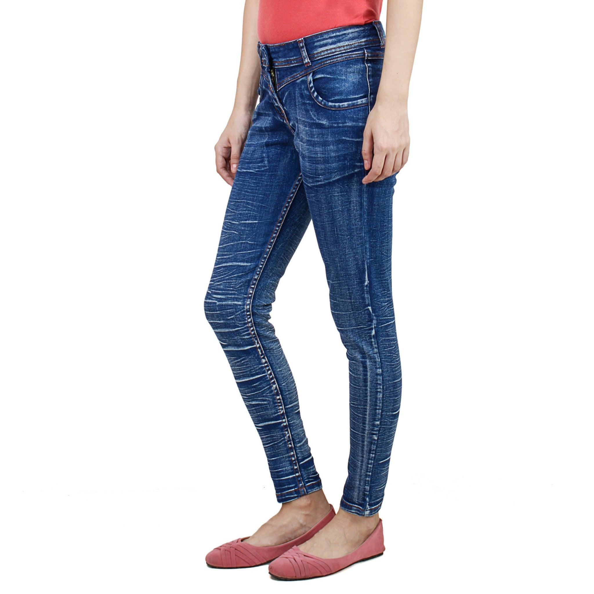 Uber Blue Denim Jeans left side view