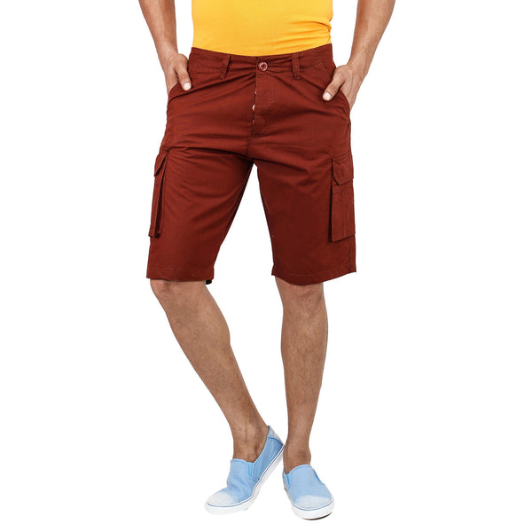 Uber Maroon Pop Shorts front view