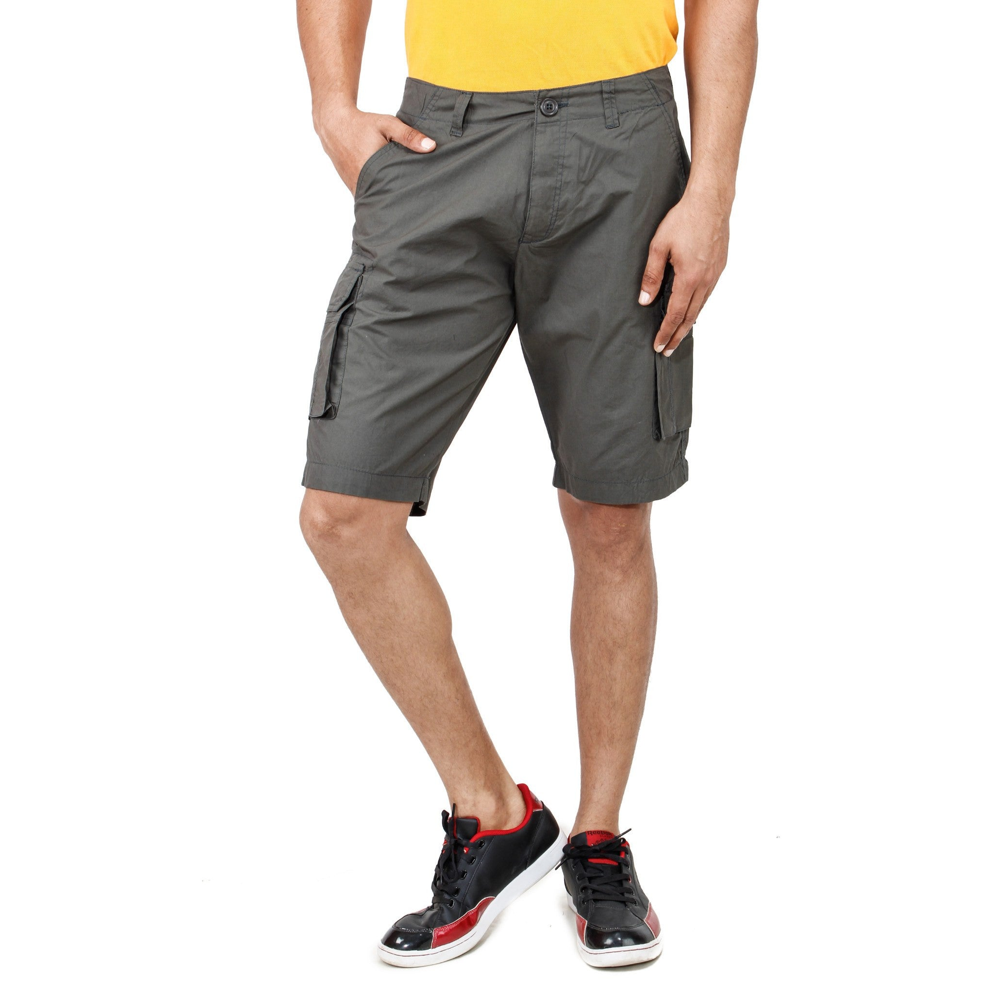 Uber Dimgray Pop Shorts front view