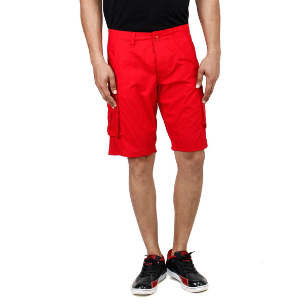 Uber Red Pop Shorts front view
