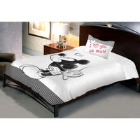 Disney Mickey Monotone single Bedsheet With 1 Pillow Cover - Über Urban Bedsheet