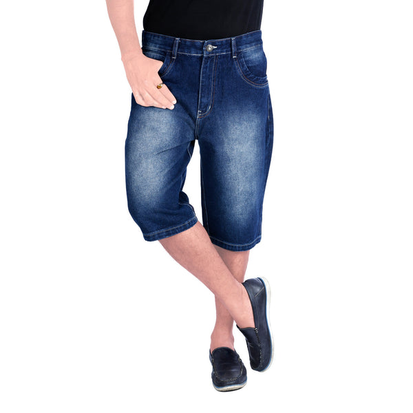 Shaded Midnight Blue Haiper Denim Shorts - uber-urban
