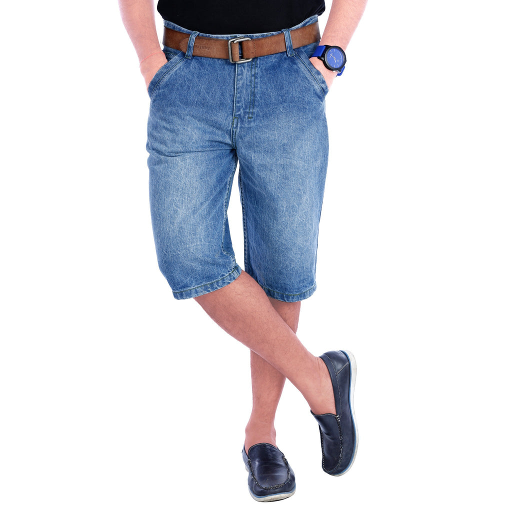 Cloudy Sky Haiper Denim Shorts front view