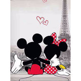 Disney Mickey Minnie in Paris Cartoon Single Quilt - Über Urban Comforter