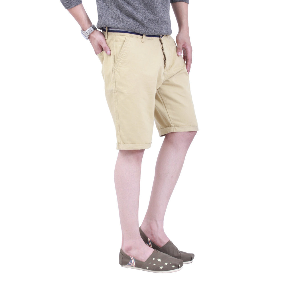 Uber Beige Tap Shorts left side view