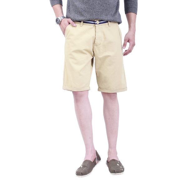 Sand Beige Tape Shorts - uber-urban