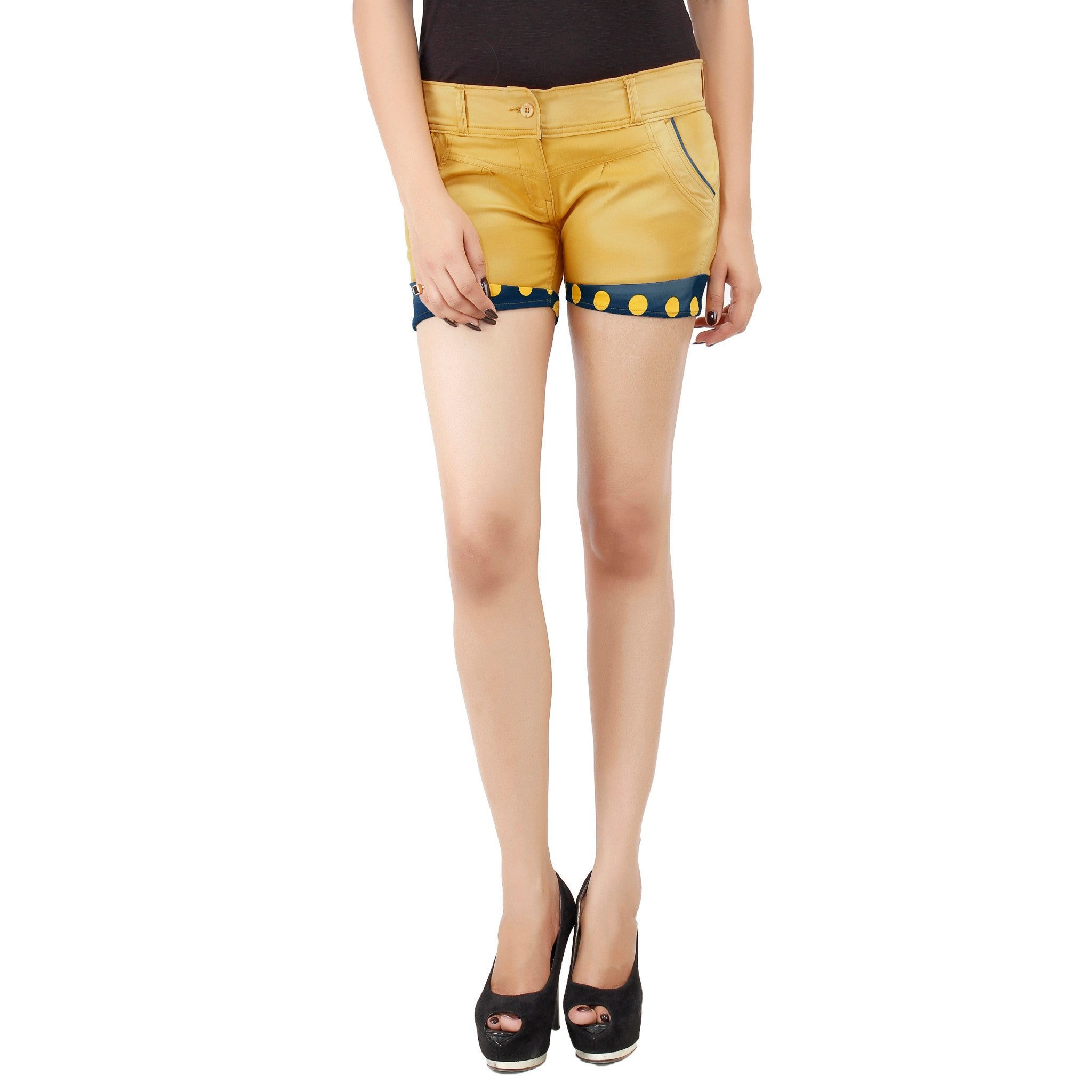 Golden Yellow Payton Shorts - Über Urban Shorts