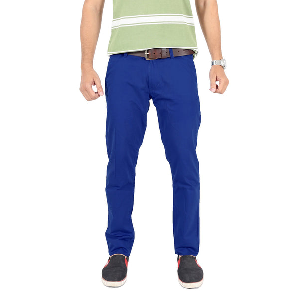 Royal Blue Side Seam Contrast Trouser