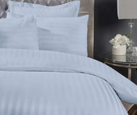 300 Thread Count Super King Skyblue Bedsheet with 4 Pillow Covers