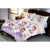 Disney Sofia Microfiber Queen Size Bedsheet With 2 Pillow Covers