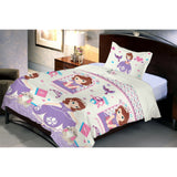 Disney Sofia Microfiber Single Bedsheet With 1 Pillow Cover