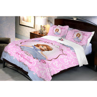 Disney Sofia Blossom Cotton Double Bedsheet With 2 Pillow Covers