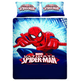 Fighter Spiderman Double Bedsheet With 2 Pillow Covers - uber-urban