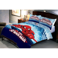 Fighter Spiderman Double Bedsheet With 2 Pillow Covers - Über Urban Bedsheet