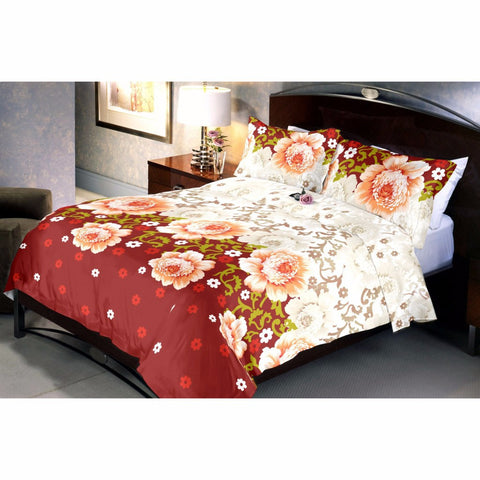 Browny roses bed sheet and pillow covers