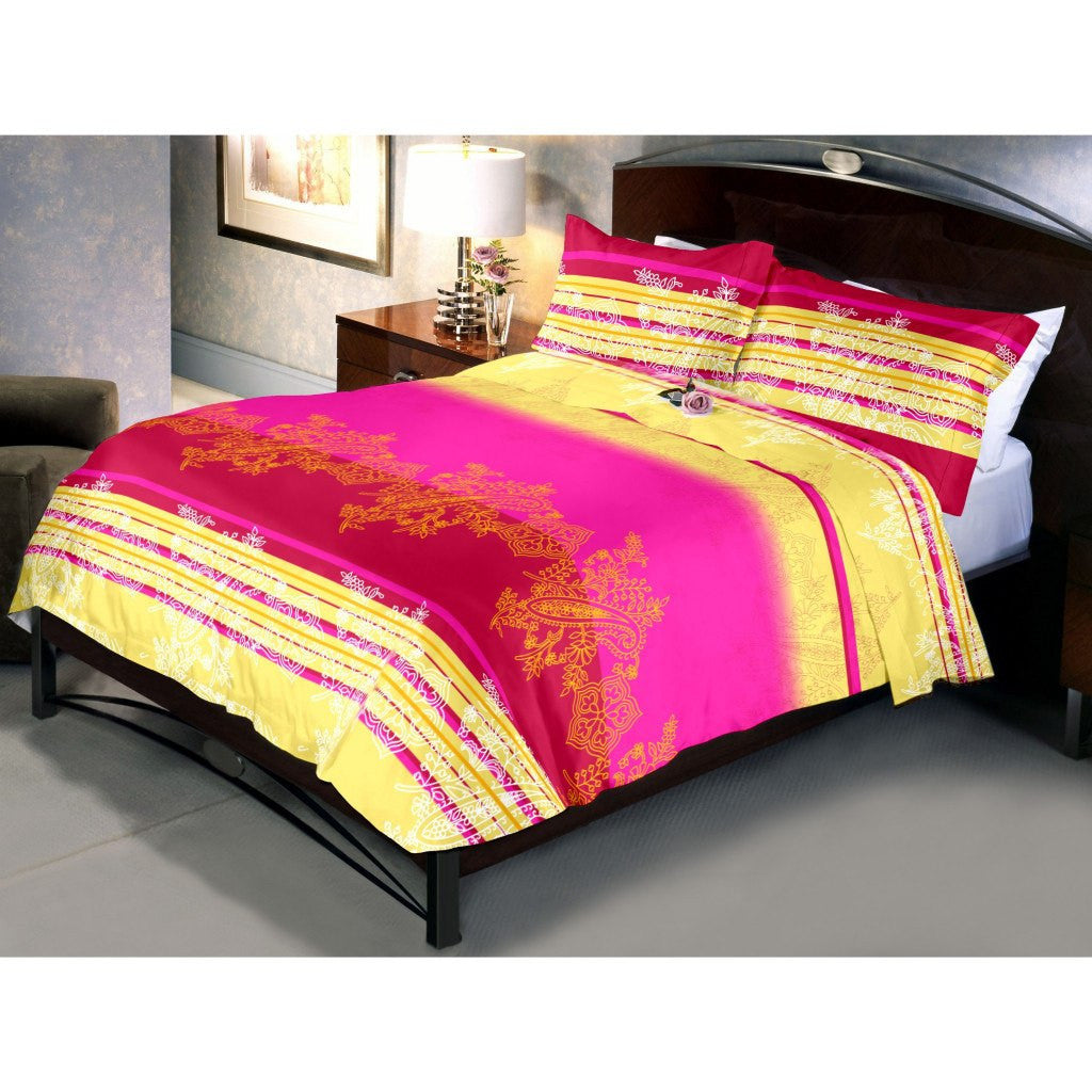 Red Magenta Bed sheets and Pillow cover