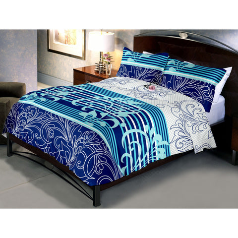 Teal Blue Bed Sheet With Pillow Covers (Queen)