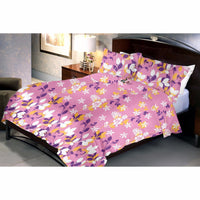 Plum Orchid Bed Sheet And Pillow Covers (Queen)