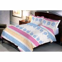 Light Pinkyelue Bed Sheet And Pillow Covers (Queen) - uber-urban