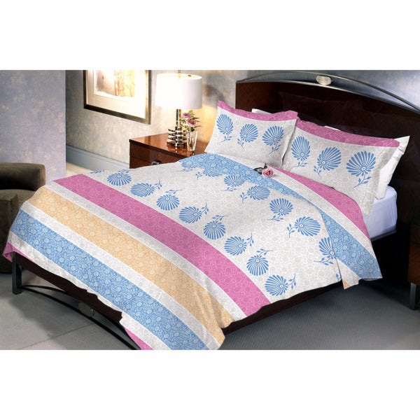 Light Pinkyelue bed sheet and pillow covers
