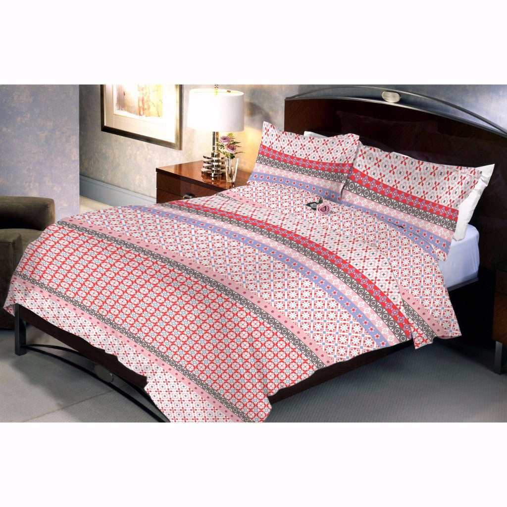 Decogrand Red Bed Sheet And Pillow Covers
