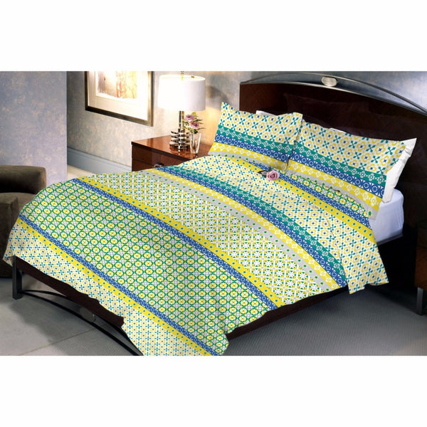 Decogrand Green Bed Sheet And Pillow Covers (Queen) - uber-urban
